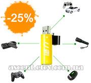 USB Перезаряжаемые AA Батарейки: на 500 зарядок (2шт)