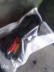Композитный AV-кабель 3 х RCA на 4-контактный 3.5мм миниджек